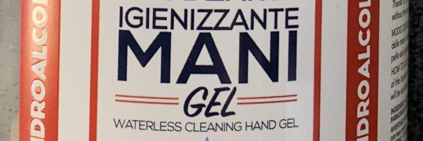 Gel igienizzante mani con alcool 65%